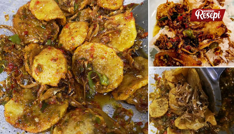 resepi simple berlado kentang  ikan bilis hidangan padu pedas terangkat kongsi resepi Resepi Kentang Jacket Enak dan Mudah